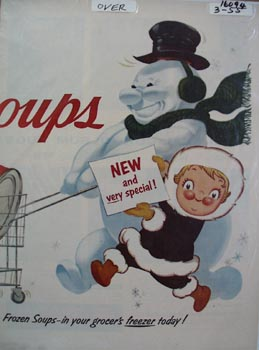 Campbell's Soups Now Frozen Soups Ad 1955