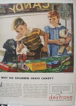 Dextrose Children Crave Candy Ad 1946