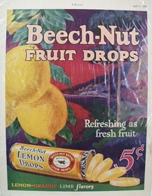 Beech Nut Lemon Drops Ad 1926