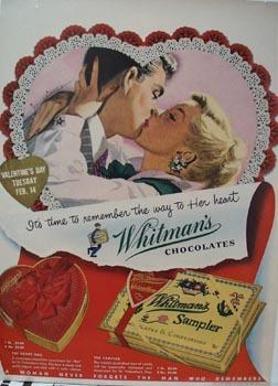 Whitman's Valentine Ad 1950