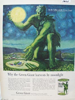 Green Giant Peas Ad 1961