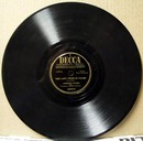 Decca 78rpm The turntable song by the Andrews Sisters