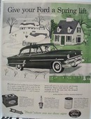 Ford Parts Give Your Ford Spring Lift Ad 1954