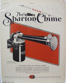 Sharton Chime Auto Horn Ad 1927