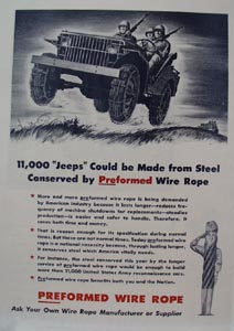Preformed Wire Rope Demanded by Industry Ad 1941