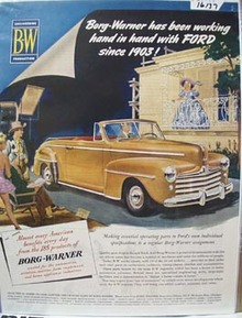 Borg Warner Hand in Hand with Ford Ad 1948