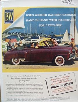 Borg Warner Hand in Hand Studebaker Ad 1948