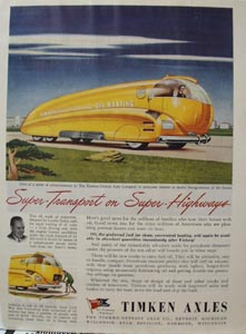 Timken Axles Super Transport Ad 1943