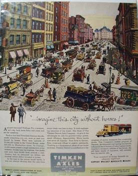 Timken Axle Imagine this City Ad 1952