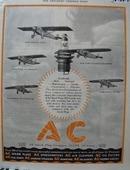 A C Spark Plug New York to Paris Ad 1927