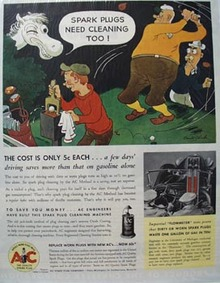 A C Spark Plug Need Cleaning Too Ad 1936