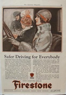 Firestone Safer Driving ad 1927