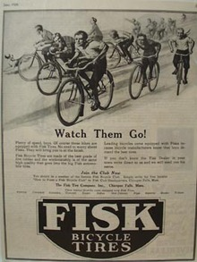 Fisk Bicycle Tires Watch Them Go Ad 1926
