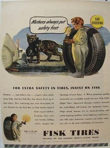Fisk Tires Mothers Put Safety First Ad 1945