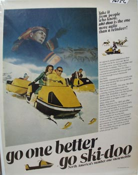 Ski-Doo Snowmobile Go One Better Ad 1969