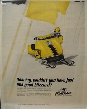 Starcraft Snowmobile One Good Blizzard Ad 1959