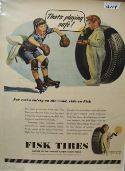 Fish Tire Playing Safe Ad 1945
