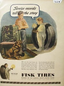 Fisk Tires Service Records Tell Story Ad 1945