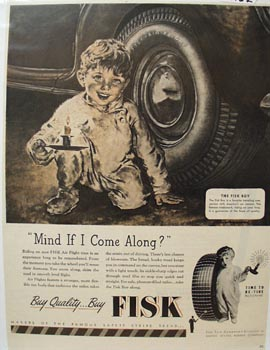 Fisk Tire Mind If I come Along Ad 1946