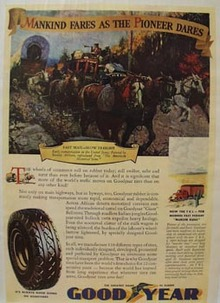 Good Year Tire Mankind Fares Ad 1937