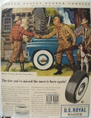 U S Royal Tire Hearty Greetings Ad 1947
