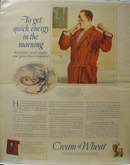 Cream of Wheat Energy in Morning Ad 1924