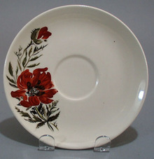Hand Painted Poppies Cup Saucer
