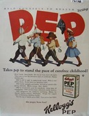 Kellogg's Pep Carefree Childhood Ad 1926