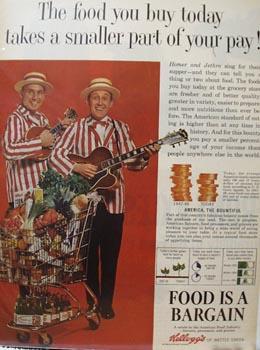 Kellogg's and Homer & Jethro Ad 1964