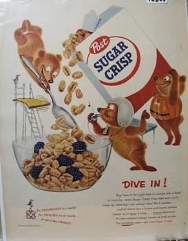 Post Sugar Crisp Dive In Ad 1955