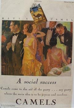 Camel Cigarette Social Success Ad 1929