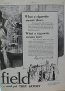 Chesterfield  What a Cigarette Means Ad 1929
