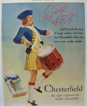 Chesterfield Spirit of '38 Ad 1938