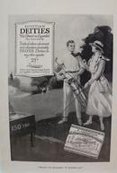 Deities Cigarettes Golfing Ad 1917