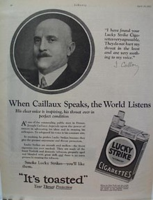 Lucky Strike Joseph Caillaux Ad 1927