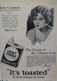 Lucky Strike Betty Compson Ad 1928