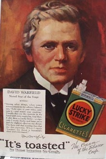 Lucky Strike David Warfield Ad 1928