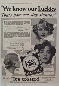 Lucky Strike Darby-Moylan-Finley Ad 1929