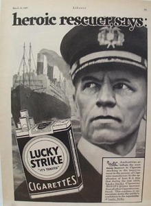 Lucky Strike Heroic Rescuer Ad 1929