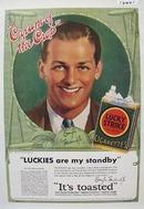 Lucky Strike Douglas Fairbanks Jr Ad 1932