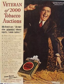 Lucky Strike Billie Branch Ad 1938