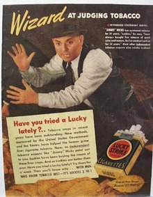 Lucky Strike Jimmy Hicks Ad 1939