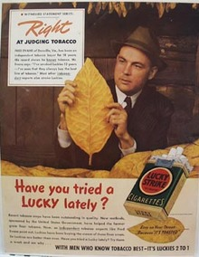 Lucky Strike Fred Evans Ad 1939