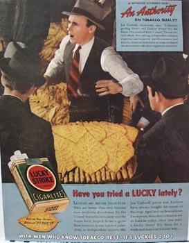 Lucky Strike Joe Cuthrell Ad 1939