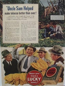 Lucky Strike Uncle Sam Helped Ad 1940