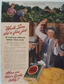 Lucky Strike Uncle Sam Did Fine Job Ad 1940