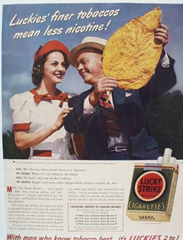 Lucky Strike Frank Brown Ad 1940