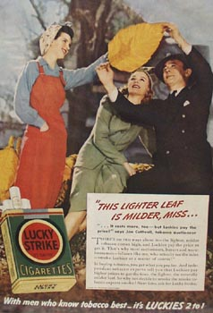 Lucky Strike Joe Cuthrell Lighter Leaf Ad 1941