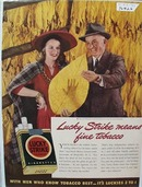 Lucky Strike Frank Brown Lady Red Hat Ad 1941