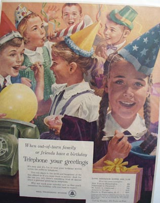 Bell telephone your greetings Ad 1956.